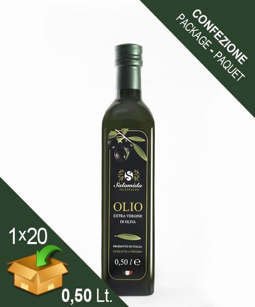 Confezione Olio Extravergine Bottiglia 0,50 Litro