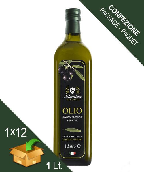 Confezione Olio Extravergine Bottiglia 1 Litro