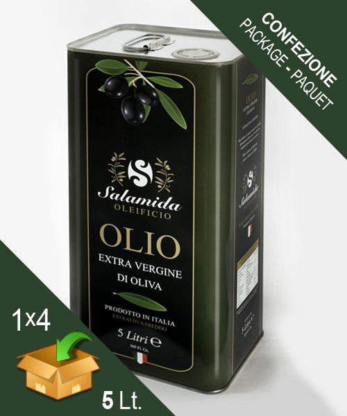Confezione Olio Extravergine Lattina 5 Litri